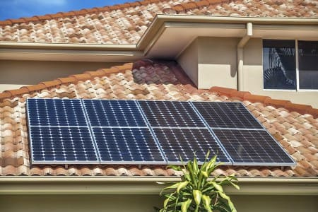 San Diego solar power system on home rooftop